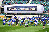 Groupe Clermont - 01.05.2015 - Captains' Run de Clermont avant la finale - European Rugby Champions Cup -Twickenham -Londres<br /> Photo : David Winter / Icon Sport