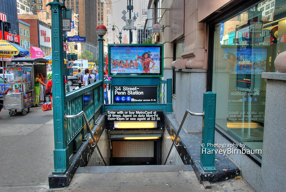 Manhattan, New York City, NYC, NY, Subway, Entrance, Midtown, Manhattan