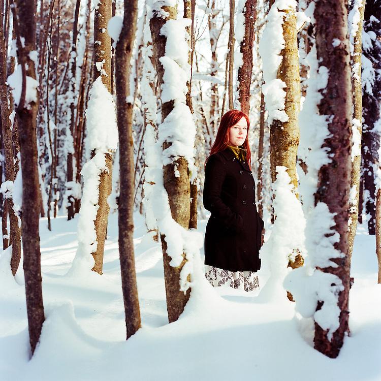 ANCHORAGE, ALASKA - 2012: Singer songwriter, Marian Call.