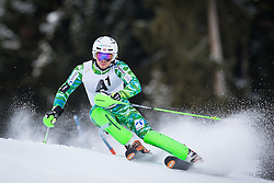 27.01.2013, Ganslernhang, Kitzbuehel, AUT, FIS Weltcup Ski Alpin, Slalom, Herren, 1. Lauf, im Bild Henrik Kristoffersen (NOR) // Henrik Kristoffersen of Norway in action during 1st run of the  mens Slalom of the FIS Ski Alpine World Cup at the Ganslernhang course, Kitzbuehel, Austria on 2013/01/27. EXPA Pictures © 2013, PhotoCredit: EXPA/ Johann Groder
