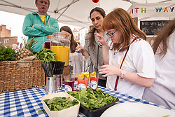 People with learning disabilities from the Wave Cafe, Midsummer Muswell Community Market, Muswell Hill, London 2015