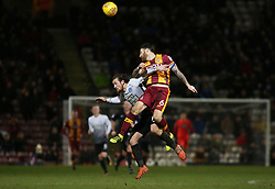 Jack Marriott of Peterborough United in action woth Romain Vincelot of Bradford City - Mandatory by-line: Joe Dent/JMP - 26/12/2017 - FOOTBALL - Northern Commercials Stadium - Bradford, England - Bradford City v Peterborough United - Sky Bet League One