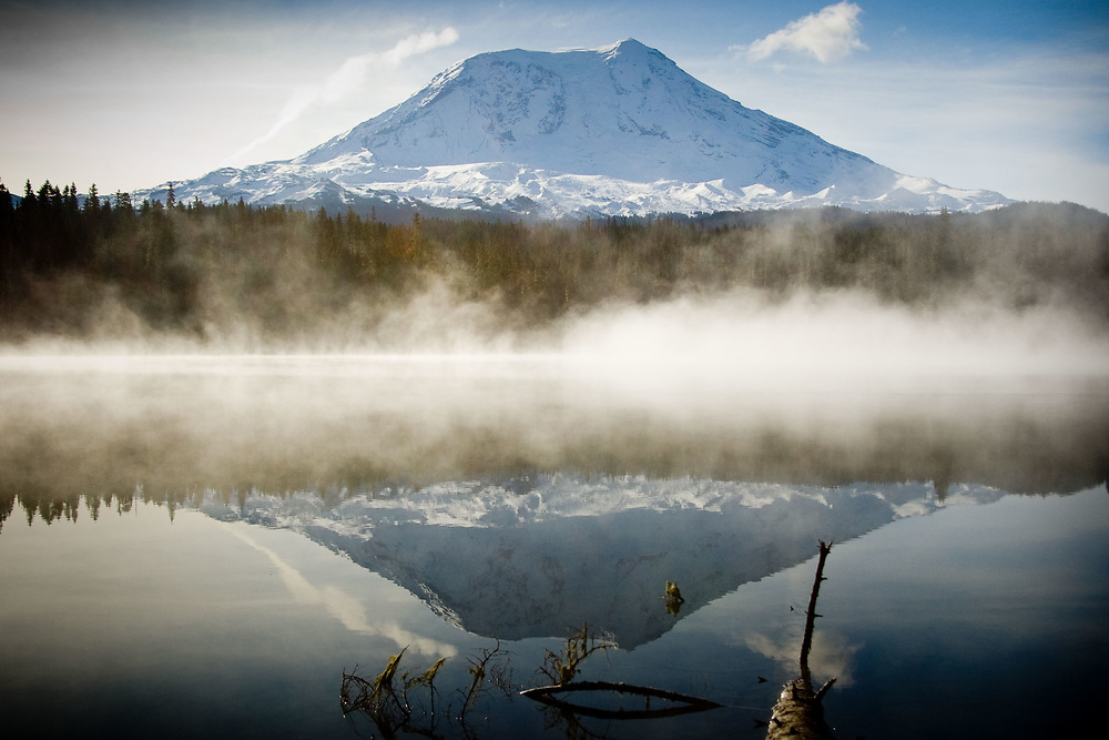Mt. Adams from Takhlakh Lake, Gifford Pinchot National Forest, Washington, US