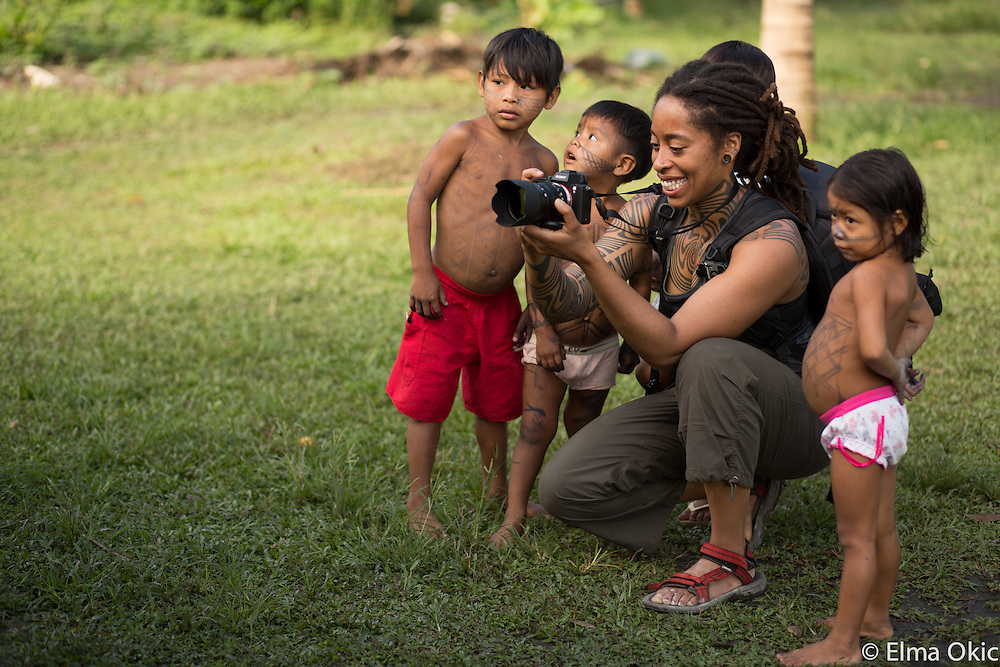 Children of Sawre Muybu village, a Munduruku indigenous community on the Tapajos River, Para, Brazil.