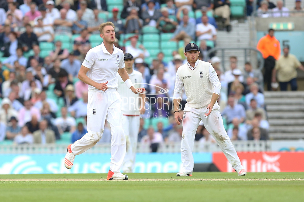 Ian Bell of England  looks on after Stuart Broad of England delivery during the 1st day of the 5th Investec Ashes Test match between England and Australia at The Oval, London, United Kingdom on 20 August 2015. Photo by Phil Duncan.