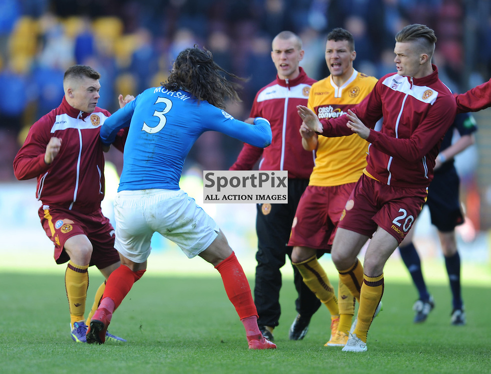 Bilel Mohsni has been handed an additional three-game ban, bringing his total suspension to seven matches following his Motherwell meltdown.<br /> <br /> The former Rangers defender was given an automatic four-match punishment after he was red carded for punching and kicking Lee Erwin following the final whistle of Motherwell&rsquo;s 6-1 aggregate Scottish Premiership play-off win.<br /> <br /> However, the Scottish Football Association disciplinary bosses have increased his ban after finding him guilty of two further offences during a Hampden hearing.