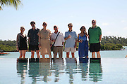Jacqueline Wilson, Matt Thorne, Tilda Swinton , Tim Lott,  Mark Lawson, Blake Morrison and Kumari Isssur. Preparing for the Le Prince Maurice Prize. Mauritius. 26 May 2006. ONE TIME USE ONLY - DO NOT ARCHIVE  © Copyright Photograph by Dafydd Jones 66 Stockwell Park Rd. London SW9 0DA Tel 020 7733 0108 www.dafjones.com