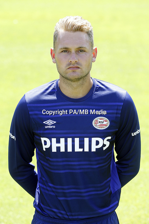 Jeroen Zoet during the team presentation of PSV Eindhoven on July 6, 2015 at the Herdgang in Eindhoven, The Netherlands.