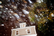 Hurricane Sandy batters a house in Coraopolis, Pa. The strom did little damage in Western Pennsylvania with the exception of a few broken shingles and tree branches.