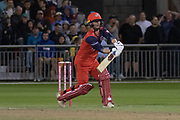 during the Vitality T20 Blast North Group match between Lancashire Lightning and Leicestershire Foxes at the Emirates, Old Trafford, Manchester, United Kingdom on 30 August 2019.