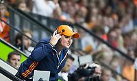 AMSTELVEEN -Lbondscoach Alyson Annan (Ned) tijdens  de gewonnen  damesfinale Nederland-Belgie bij de Rabo EuroHockey Championships 2017.   COPYRIGHT KOEN SUYK