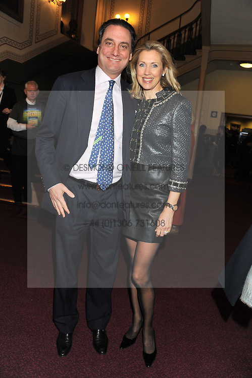 COUNT & COUNTESS ALLESANDRO GUERRINI-MARALDI attend the premier of 2012 Cirque du Soleil's Totem at the Royal Albert Hall, London on 5th January 2012,