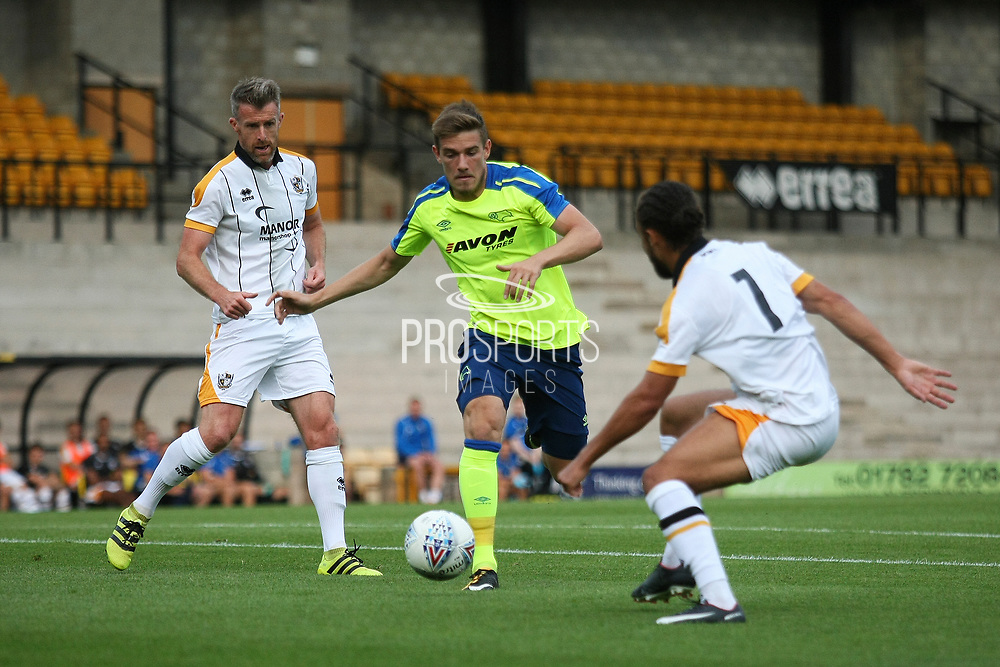 Derby County's Tim Elsnick  during the Pre-Season Friendly match between Port Vale and Derby County at Vale Park, Burslem, England on 18 July 2017. Photo by John Potts.