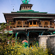 The Shah-i-hamadan shrine in Kashmir, India, also known as the Papier-mâché mosque.,Kashmir, India