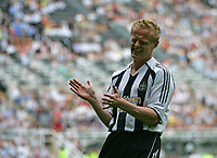 Photo: Andrew Unwin.<br />Newcastle United v PSV Eindhoven. Pre Season Friendly. 29/07/2006.<br />Newcastle's Damien Duff rues a missed opportunity.