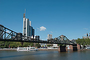Skyline of Frankfurt, Eiserner Steg Bridge