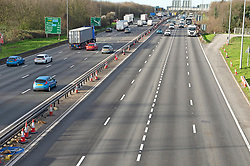 ©Licensed to London News Pictures 17/03/2020<br /> Dartford, UK. Normally the A282 Dartford crossing approach road in Dartford ,Kent (anti clock-wise) is one of the busiest morning rush hour roads in the country but this morning due to the impact of Coronavirus it is one of the quietest. Photo credit: Grant Falvey/LNP