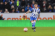 Brighton defender Liam Ridgewell (33) kicks forward  during the The FA Cup match between Hull City and Brighton and Hove Albion at the KC Stadium, Kingston upon Hull, England on 9 January 2016. Photo by Ian Lyall.