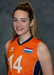 24-12-2019 NED: Photoshoot selection of Orange Youth Girls, Arnhem<br /> Orange Youth Girls 2019 - 2020 / Nicole van de Vosse #14