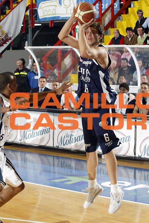 DESCRIZIONE : Napoli Lega A1 2005-06 Play Off Semifinale Gara 2 Carpisa Napoli Climamio Fortitudo Bologna <br /> GIOCATORE : Mancinelli<br /> SQUADRA : Climamio Fortitudo Bologna<br /> EVENTO : Campionato Lega A1 2005-2006 Play Off Semifinale Gara 2<br /> GARA : Carpisa Napoli Climamio Fortitudo Bologna<br /> DATA : 04/06/2006 <br /> CATEGORIA :<br /> SPORT : Pallacanestro <br /> AUTORE : Agenzia Ciamillo-Castoria/E.Pozzo