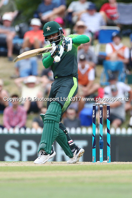Pakistan batsman Muhammad Hafeez in action during the Second One-Day game between Black Caps v Pakistan, Saxton Oval, Nelson, Tuesday 9th Janurary 2018. Copyright Photo: Evan Barnes/ © www.Photosport.nz 2018