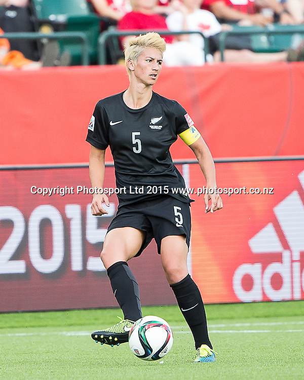 Abby Erceg. Edmonton, Alberta, Canada, June 6, 2015.  The opening day of the Women's World Cup at Commonwealth Stadium.  New Zealand was defeated by Netherlands 1-0.