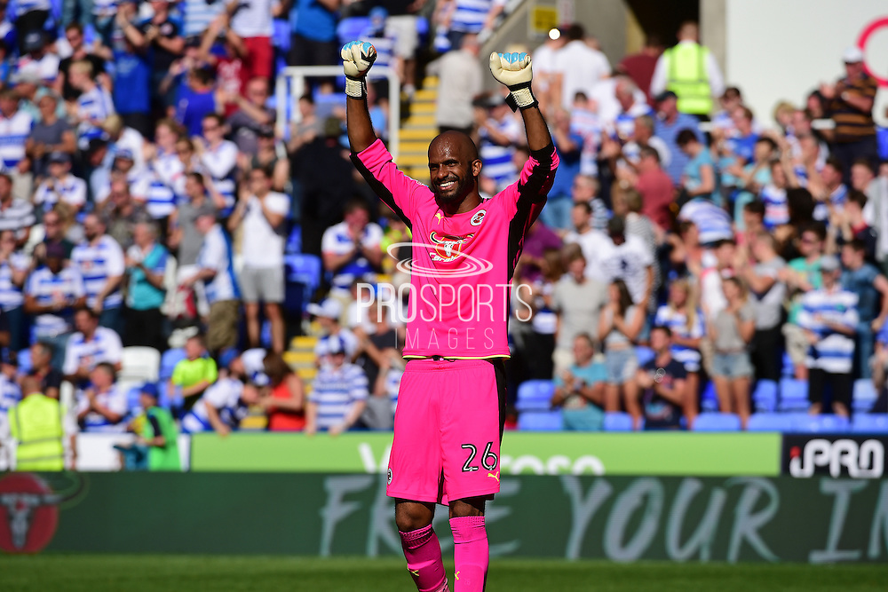 Reading goalkeeper Ali Al-Habsi (26) celebrates a 1-0 win during the EFL Sky Bet Championship match between Reading and Preston North End at the Madejski Stadium, Reading, England on 6 August 2016. Photo by Jon Bromley.