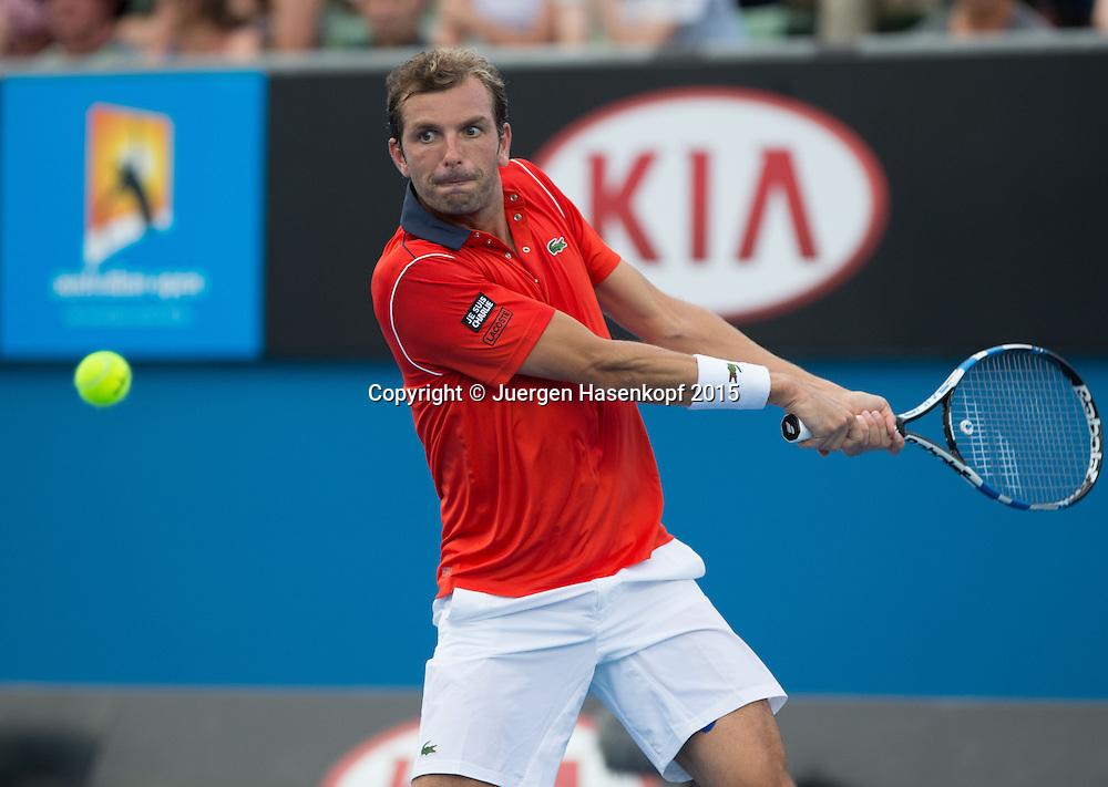 Julien Benneteau (FRA)<br /> <br />  - Australian Open 2015 -  -  Melbourne Park Tennis Centre - Melbourne - Victoria - Australia  - 20 January 2015. <br /> &copy; Juergen Hasenkopf