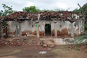 Abandoned house on road between Nagapattinam and Nagore.
