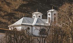 THEMENBILD - die St.-Markus-Kirche, auch Ursulinenkirche genannt(Klosterkirche der Ursulinen) liegt in der Gestättengasse am Ursulinenplatz der Salzburger Altstadt, aufgenommen am 31. März 2019 in Salzburg, Oesterreich // the St.-Markus-Kirche, also called Ursulinenkirche (Ursuline Monastery Church) is located in Gestättengasse on Ursulinenplatz in Salzburg's Old Town, Austria on 2019/03/31. EXPA Pictures © 2019, PhotoCredit: EXPA/Stefanie Oberhauser