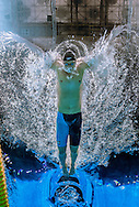 Dominik Meichtry of Switzerland competes in the men's 100m Butterfly Heats during the 15th FINA World Aquatics Championships at the Palau Sant Jordi in Barcelona, Spain, Friday, Aug. 2, 2013. (Photo by Patrick B. Kraemer / MAGICPBK)