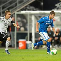 Rosenborg v St Johnstone....18.07.13  UEFA Europa League Qualifier.<br /> Chris Millar<br /> Picture by Graeme Hart.<br /> Copyright Perthshire Picture Agency<br /> Tel: 01738 623350  Mobile: 07990 594431
