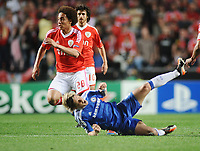Football - Champions League Quarter Final - Benfica vs. Chelsea<br /> Fernando Torres (Chelsea) is fouled by Axel Witsel (Benfica)