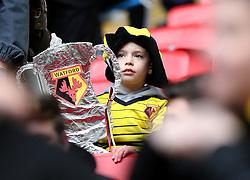 Watford fans - Mandatory by-line: Robbie Stephenson/JMP - 24/04/2016 - FOOTBALL - Wembley Stadium - London, England - Crystal Palace v Watford - The Emirates FA Cup Semi-Final
