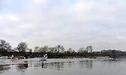 LONDON, ENGLAND - Thursday  13/12/2012 : Oxford University crew, [R] Hurricane and [L] Spitfire,  during the annual Varsity trial 8's for The BNY Melon University Boat Race over the Championship Course [Putney to Mortlake]. The River Thames, England. (Mandatory Credit/ Peter  Spurrier/Intersport Images)