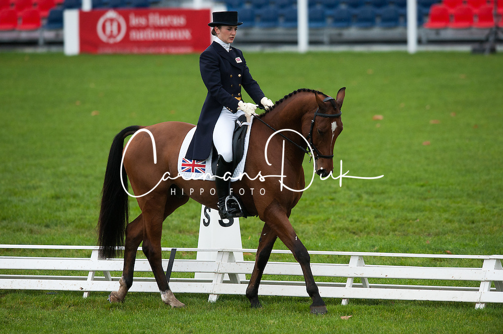 Dumas Millie (GBR) - Artistiek<br /> FEI World Championship for Young Horses Le Lion d'Angers 2012<br /> © Hippo Foto - Jon Stroud