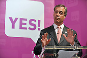 licensed to London News Pictures. LONDON UK. 27/04/11. Nigel Farage.  A News conference held today (27 April 2011) in Church House, London. The conference was introduced by Katie Ghose with Lib Dem President Tim Farron, Green Party Leader Caroline Lucas, UKIP leader Nigel Farage and  Labour's  Alan Johnson, supporting a Yes for the Alternative Vote. Photo credit should read Stephen Simpson/LNP