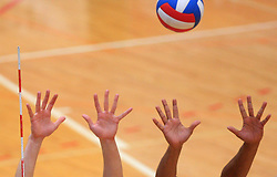Hands and a ball at finals of Slovenian volleyball cup between OK ACH Volley and OK Salonit Anhovo Kanal, on December 27, 2008, in Nova Gorica, Slovenia. ACH Volley won 3:2.(Photo by Vid Ponikvar / SportIda).