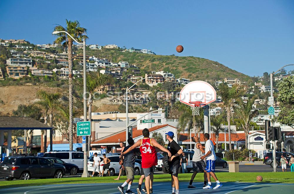 Basketball Courts at Main Beach in Laguna Beach California
