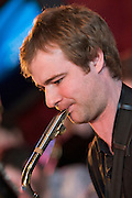 Dean Nixon on Saxophone with the Tom Richards Orchestra at the Friday Tonic concert in 2008. Frontroom, Queen Elizabeth Hall, Southbank Centre, London
