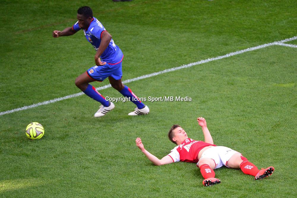 Nicolas DE PREVILLE / Romain GENEVOIS  - 12.04.2015 - Reims / Nice - 32eme journee de Ligue 1 <br />Photo : Dave Winter / Icon Sport