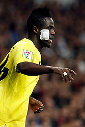 01.03.2015, Estadio Santiago Bernabeu, Madrid, ESP, Primera Division, Real Madrid vs FC Villarreal, 25. Runde, im Bild Eric Bailly of Villarreal // during the Spanish Primera Division 25th round match between Real Madrid CF and Villarreal at the Estadio Santiago Bernabeu in Madrid, Spain on 2015/03/01. EXPA Pictures &copy; 2015, PhotoCredit: EXPA/ Alterphotos/ Caro Marin<br /> <br /> *****ATTENTION - OUT of ESP, SUI*****