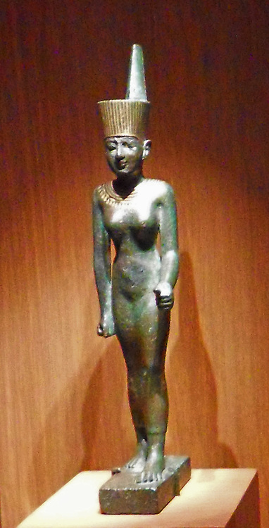 Statuette of the goddess Neith. Late Period, Dynasty 26 664–525 B.C. Egypt. Cupreous alloy