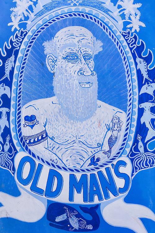 Mural at Old Man's.