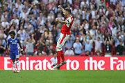 Arsenal's Aaron Ramsey(8) celebrates at the final whistle during the The FA Cup final match between Arsenal and Chelsea at Wembley Stadium, London, England on 27 May 2017. Photo by Shane Healey.