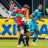 NIJMEGEN- 07-05-2017, NEC - AZ,  Stadion De Goffert, 2-1, AZ speler Stijn Wuytens, NEC Nijmegen speler Julian von Haacke, AZ speler Levi Garcia