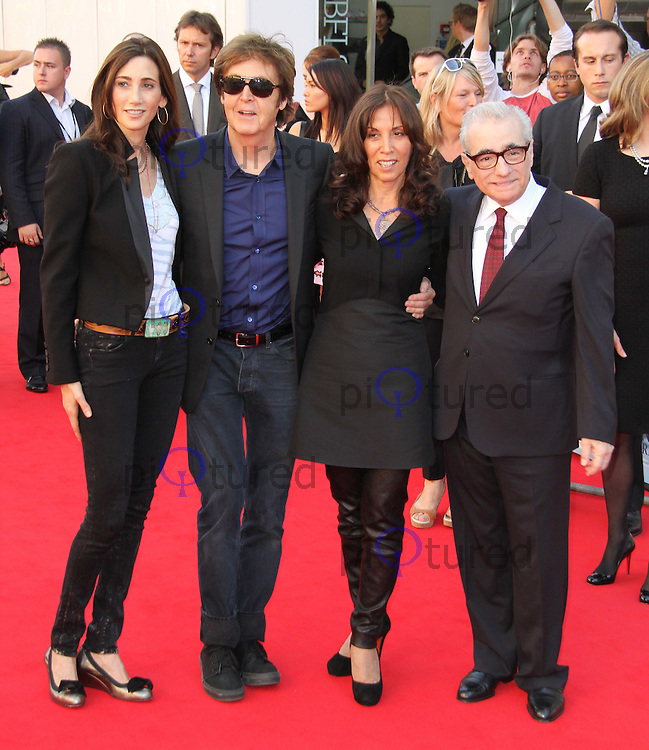 Nancy Shevell; Sir Paul McCartney; Olivia Harrison; Martin Scorsese George Harrison: Living in the Material World UK Premiere, BFI Southbank,London, UK. 02 October 2011 Contact: Rich@Piqtured.com +44(0)7941 079620 (Picture by Richard Goldschmidt)