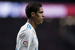 November 18, 2017 - Madrid, Madrid, Spain - Varane during the match between Atletico de Madrid and Real Madrid, week 12 of La Liga at Wanda Metropolitano stadium, Madrid, SPAIN - 18th November of 2017. (Credit Image: © Jose Breton/NurPhoto via ZUMA Press)