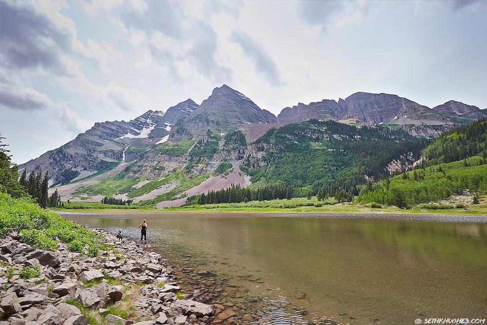Maroon Bells Wilderness, Maroon peak, Crater Lake, Aspen, Colorado