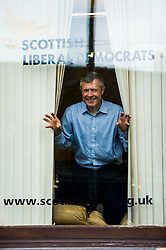Pictured: Willie Rennie<br /> <br /> Scottish Liberal Democrat leader Willie Rennie made his final pitch for votes today as he unveiled large building blocks that spelt out the party's flagship &quot;Penny for education&quot; policy. Scottish Liberal Democrats HQ, 4, EH12 5DR. Adam Clarke 07450 980 386.the election on Thursday.<br /> <br /> Ger Harley | EEm 2 May 2016